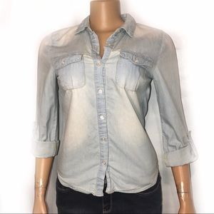 Charlotte Russe chambray blouse Button up shirt